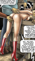 Tied up nude drawn slave babe gets humiliated by…