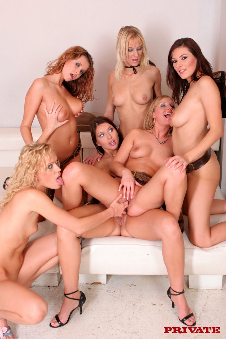 6 girl orgy and huge cock party christmas 9