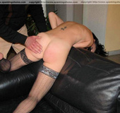 Naughty girl humiliated and spanked on her cute&hellip;