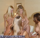 Seven Hot Chicks Playing With Each Other