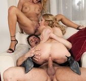 Two lovely sex couples going full hardcore at it&hellip;