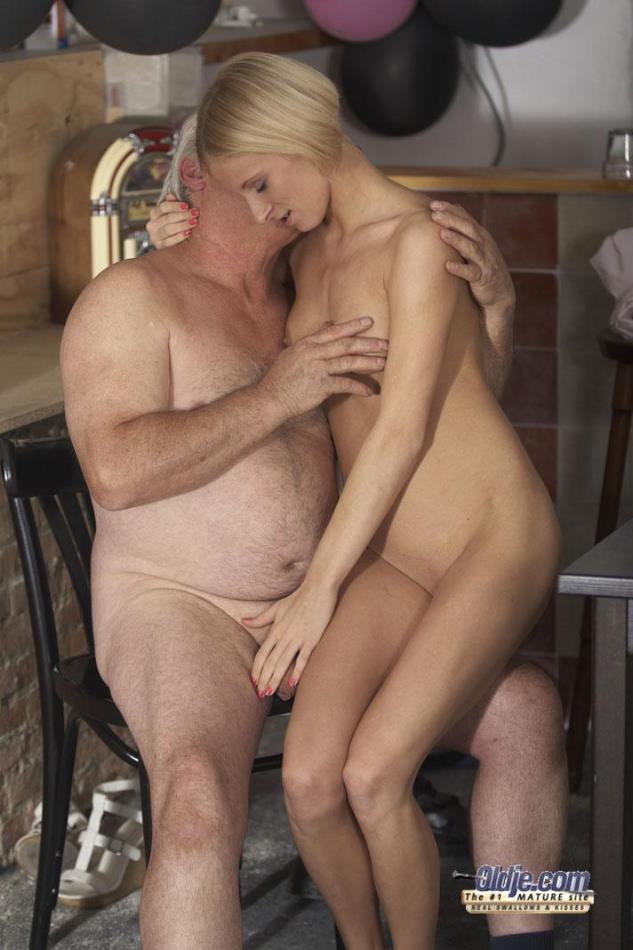old men and young girls nude