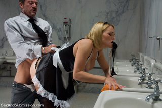 sexy maid and gimp