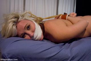 blonde girl fisted bondage
