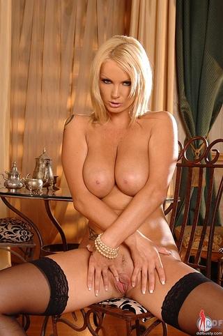 big boobed blonde babe