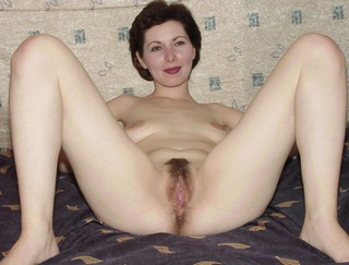 short-haired brunette creamy skin