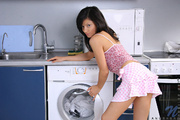 Sexy naughty Anushka gives herself a nice vibrator fuck in the middle of her laundry chores