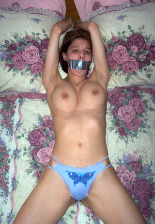 taped mouths and tightly