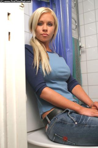 cecilia tied the bathroom