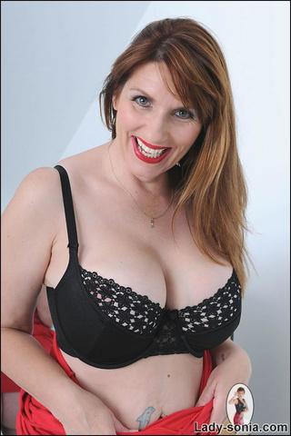 curvy biusty british brunette