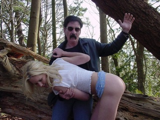 hot blonde spanked forest