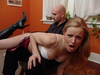 spanked hard otk her