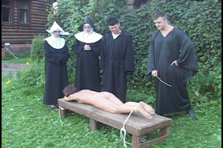 outdoor convent caning naked