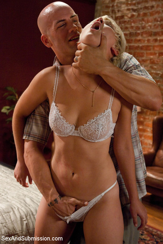 tied blonde slave babe