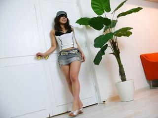 lusty asian babe miniskirt