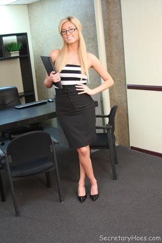 busty blonde secretary victoria