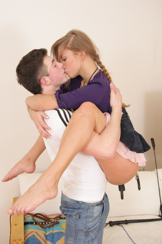 naughty leashed teen babe