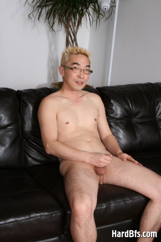 blonde asian gay wanking