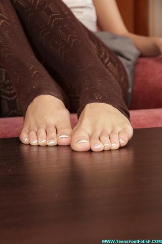 perfect feet erotic brunette