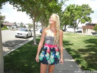 picked street blonde teen
