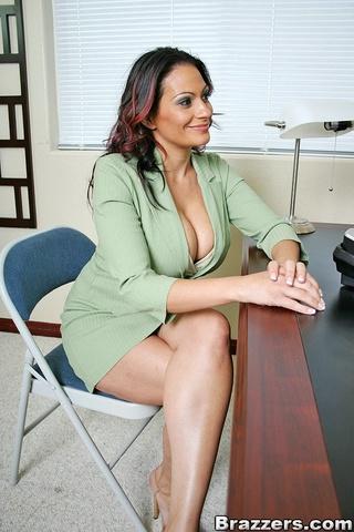 busty office girl ava